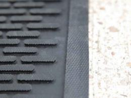 Close up of the raised surface of this rubber entrance matting