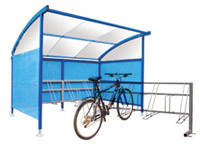 Cycle storage including bike shelters, bike racks and bykebin lockers