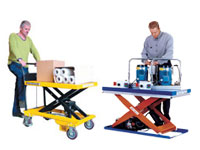 Scissor lifts and mobile scissor lift tables