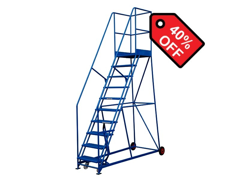 10 Tread 2286mm High Safety Steps