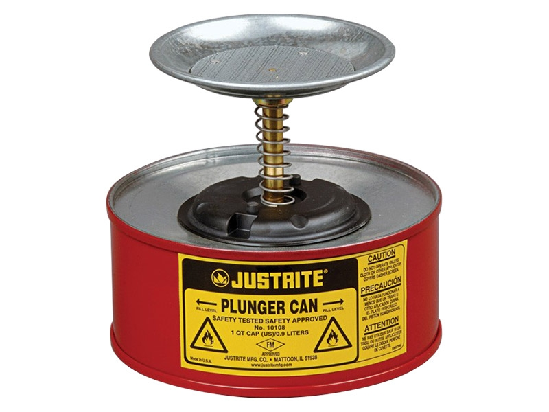 Steel Plunger Can 1L
