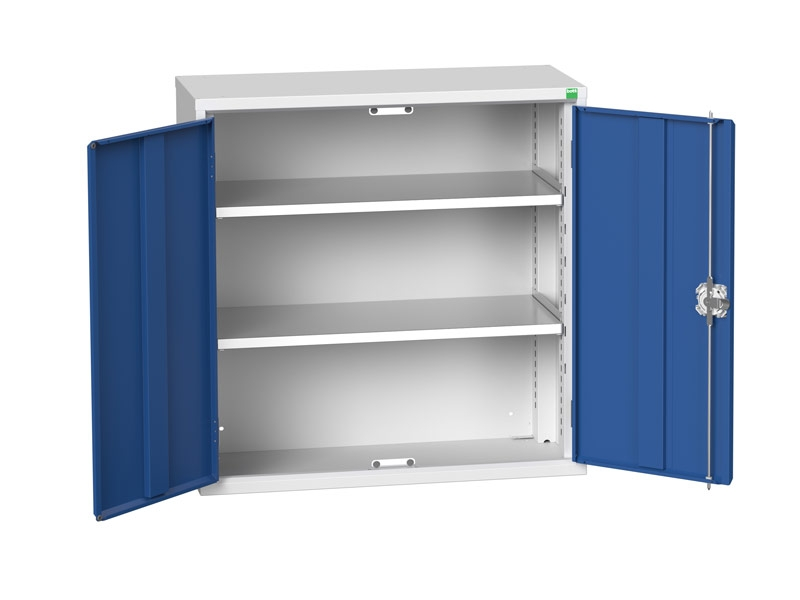 Freestanding Workshop Cupboard with 2 Shelves (900 x 800 x 350)