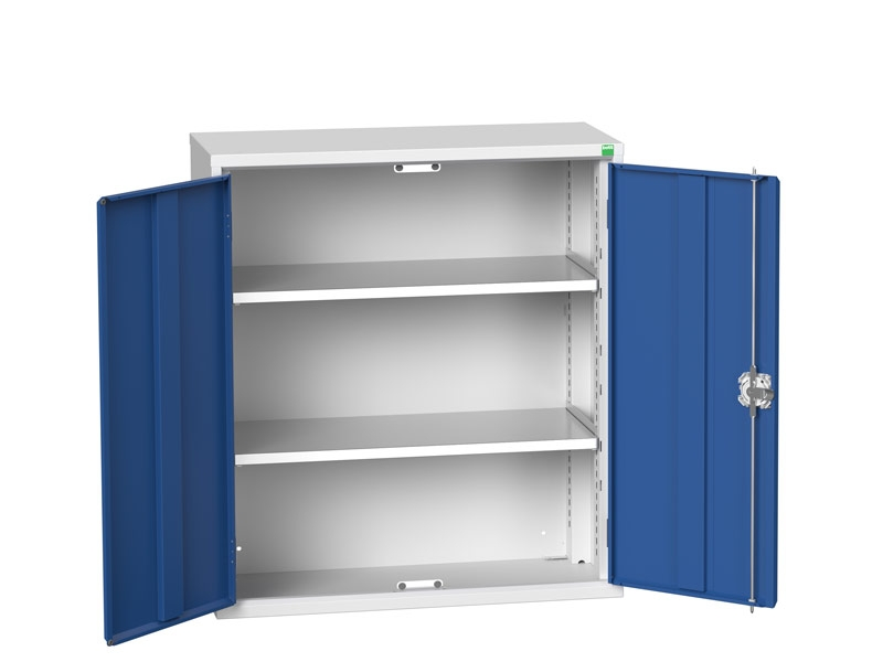 Freestanding Workshop Cupboard with 2 Shelves (1000 x 800 x 350)