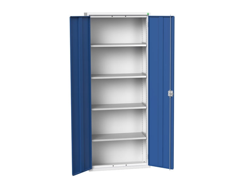 Freestanding Workshop Cupboard with 4 Shelves (2000 x 800 x 350)