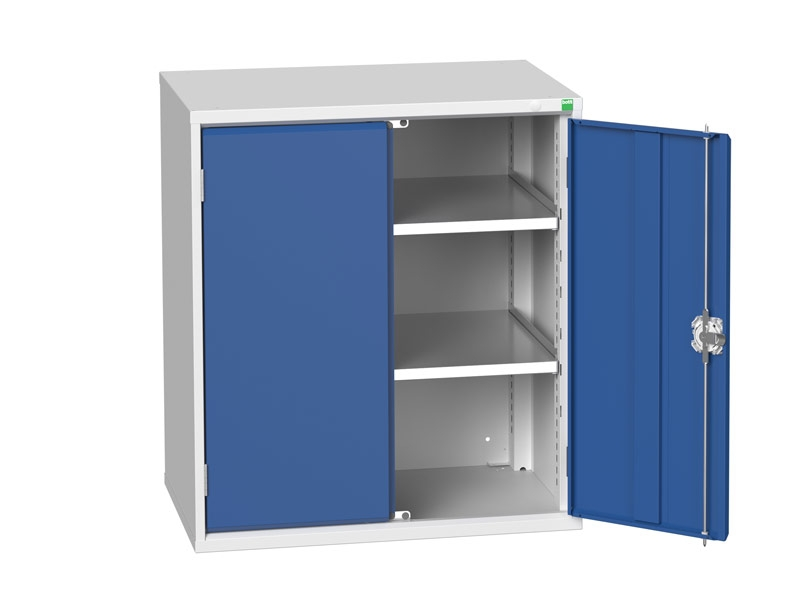 Freestanding Workshop Cupboard with 2 Shelves (900 x 800 x 550)