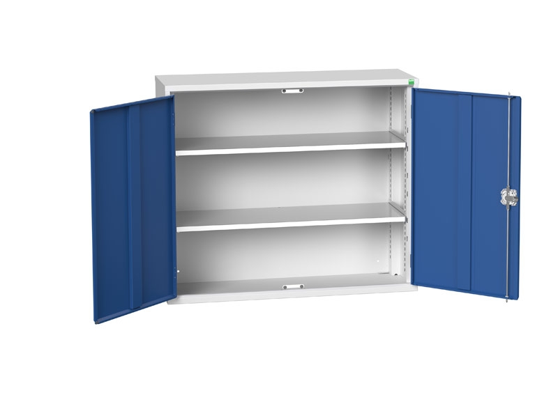 Freestanding Workshop Cupboard with 2 Shelves (1000 x 1050 x 350)