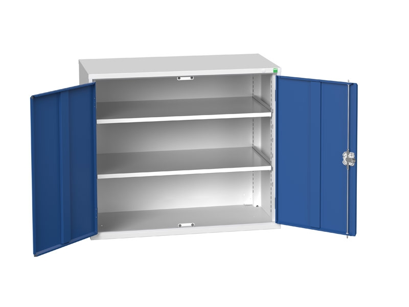 Freestanding Workshop Cupboard with 2 Shelves (900 x 1050 x 550)