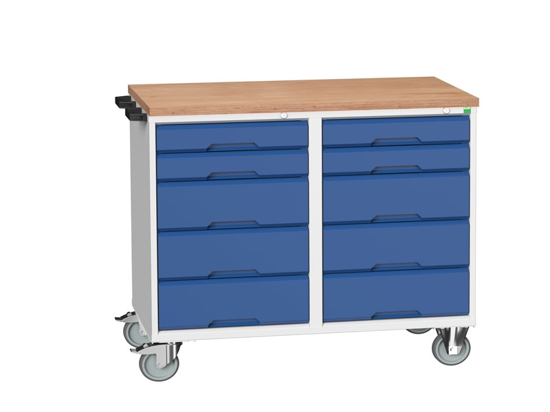 Workbench with Wheels and Drawers