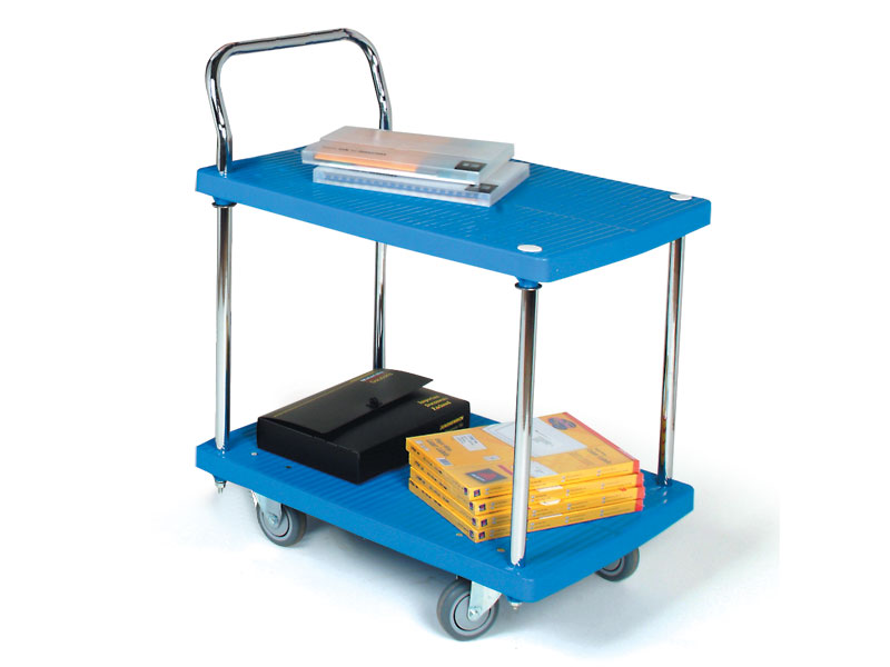Buy 2 Shelf Plastic Office Trolley