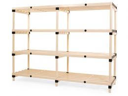 1495mm High Plastic Shelving