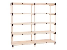 1940mm High Plastic Shelving
