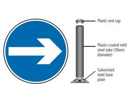 Traffic Sign, Post and Fixings
