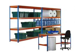 2 Bays of Shelving and Workbench Kit