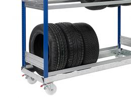 High Mobile Tyre Trolley