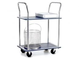 Lightweight 2 Shelf Trolley