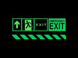 Glow in the Dark Safety Signs