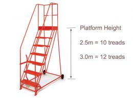 2.5m & 3m Platform Warehouse Steps