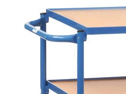 3 Shelf Horizontal Pushbar Table Top Carts