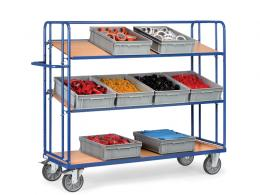 3 Solid Shelf Container Trolley