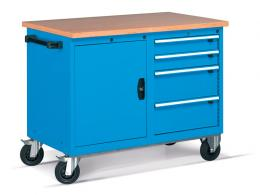 4 Mobile Drawer Cabinet with Shelf