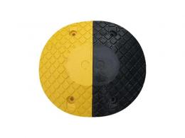 Yellow and black 5mph Speed Bumps Circular