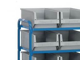 Storage Container Trolley with 8 Boxes