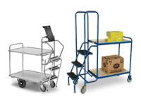 Stock or order picking trolley