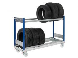 Low Mobile Tyre Trolley
