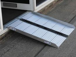 Aluminium finish disabled access ramp
