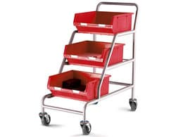 Angled Picking Trolleys with Parts Bins