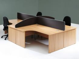 Arc Top Desk Mounted Office Screens