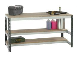Bolt Free Workbench with two lower shelves