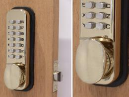 Brass Mechanical Digital Door Lock