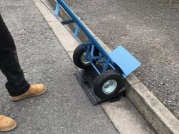 Kerb Ramp in use with sack truck