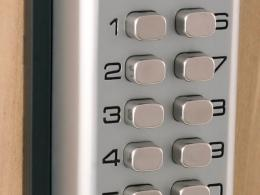 Chrome Mechanical Digital Door Lock