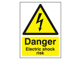 """Danger Electric Shock Risk"" Warning Safety Sign"
