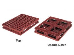Distribution Plastic Pallet with Perimeter Runners