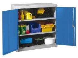 Double Door Workshop Cupboard with 2 Adjustable Shelves