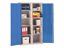 Double Door Workshop Cupboard with 8 Shelves