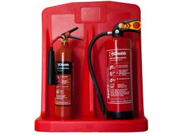 Double Plastic Extinguisher Stand