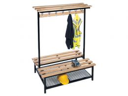 Double Sided Wooded Changing Room Bench