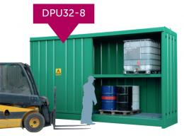 Large storage units for drums or IBCs