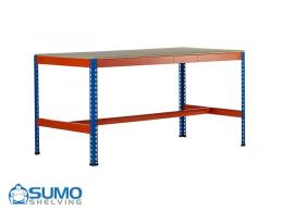 Economy Work Benches with small and medium sized cupboards