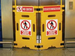 lift floor sign