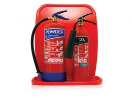 Two Fire Extinguisher Stand
