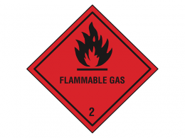 """Flammable Gas"" Hazard Warning Labels"