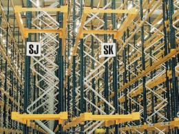 Flat End of Rack Aisle Markers