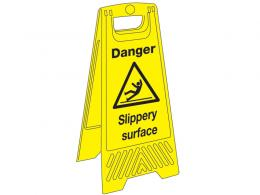 Wet floor sign for cleaners and janitors