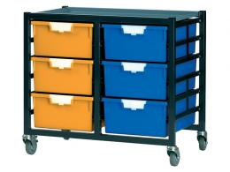 Metal Rack with 12 Plastic Drawers