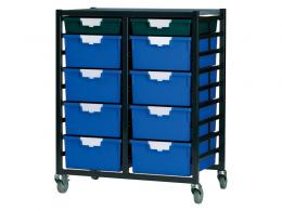 Metal Rack with 18 Plastic Drawers
